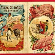 Carteles Toros: CARTEL TOROS PLAZA DE CORDOBA , 1902 , MODERNISTA ,CROMO LITOGRAFIA ,ORIGINAL. Lote 29390333