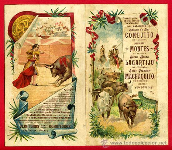 Carteles Toros: CARTEL TOROS PLAZA DE CORDOBA , 1902 , MODERNISTA ,CROMO LITOGRAFIA ,ORIGINAL - Foto 2 - 29390333