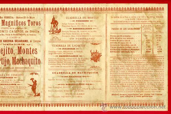 Carteles Toros: CARTEL TOROS PLAZA DE CORDOBA , 1902 , MODERNISTA ,CROMO LITOGRAFIA ,ORIGINAL - Foto 4 - 29390333