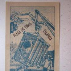 Carteles Toros: CARTEL TOROS VALENCIA - AÑO 1912 - IMP. LIT. ORTEGA. Lote 29883630