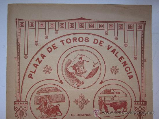 Carteles Toros: CARTEL TOROS VALENCIA - AÑO 1913 - IMP. LIT. ORTEGA - Foto 2 - 29885708