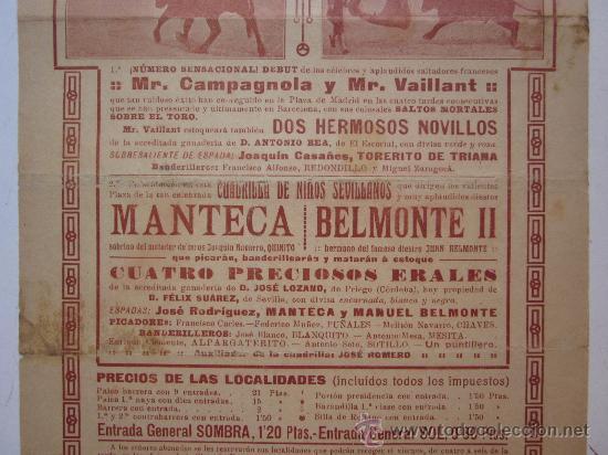 Carteles Toros: CARTEL TOROS VALENCIA - AÑO 1913 - IMP. LIT. ORTEGA - Foto 5 - 29885708
