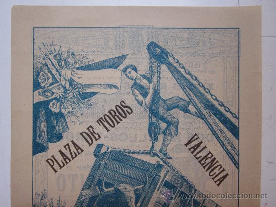 Carteles Toros: CARTEL TOROS VALENCIA - AÑO 1912 - IMP. LIT. ORTEGA - Foto 2 - 29883630