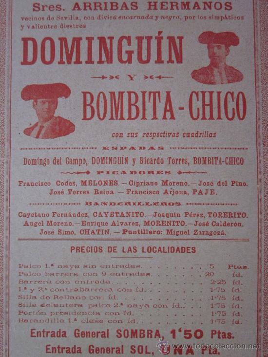Carteles Toros: CARTEL TOROS VALENCIA - AÑO 1898 - IMP. LIT. ORTEGA - Foto 3 - 29896378