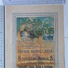 Carteles Toros: CARTEL TOROS VALENCIA - JUNIO DE 1916 - ARTES GRAFICAS, VALENCIA. Lote 29920987