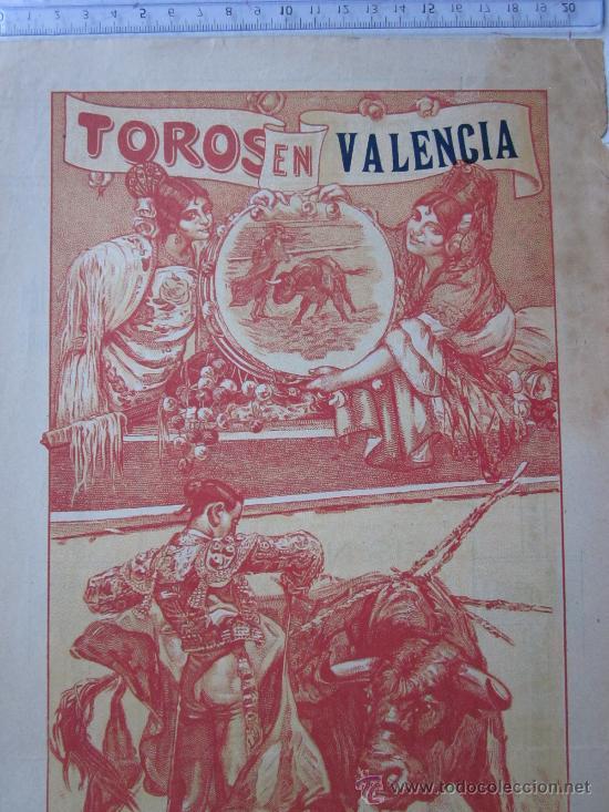 Carteles Toros: CARTEL TOROS VALENCIA - SEPTIEMBRE DE 1918 - IMP. LIT. ORTEGA, VALENCIA - RUANO LLOPIS - Foto 2 - 29914440