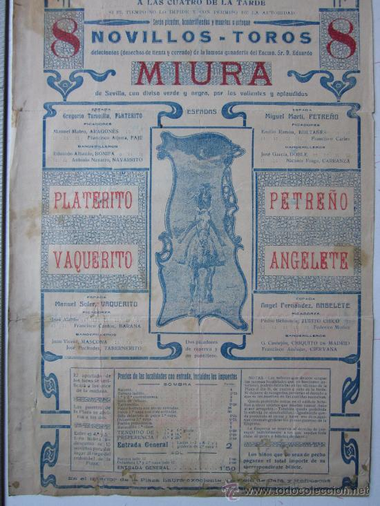 Carteles Toros: CARTEL TOROS VALENCIA - AGOSTO DE 1916 - ARTES GRAFICAS, VALENCIA - Foto 3 - 29914614