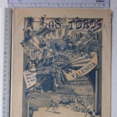 Carteles Toros: CARTEL TOROS VALENCIA - 15 DE MARZO DE 1914 - IMP. LIT. ORTEGA - EMILIO PORSET. Lote 29934932