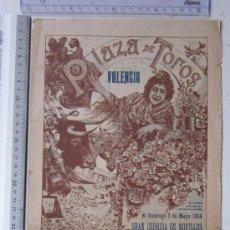 Carteles Toros: CARTEL TOROS VALENCIA - 3 DE MAYO DE 1914 - IMP. LIT. ORTEGA. Lote 29935063