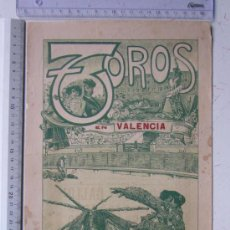 Carteles Toros: CARTEL TOROS VALENCIA - 9 DE MAYO DE 1914 - IMP. LIT. ORTEGA. Lote 29935103