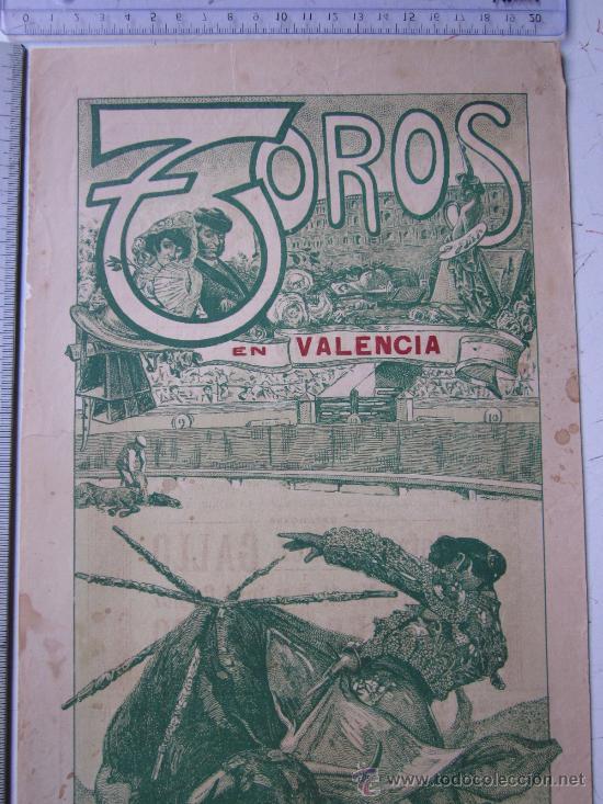 Carteles Toros: CARTEL TOROS VALENCIA - 9 DE MAYO DE 1914 - IMP. LIT. ORTEGA - Foto 2 - 29935103
