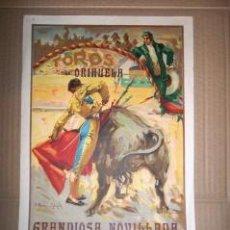 Carteles Toros: TOROS EN ORIHUELA. 1930. CARTEL. MANUEL AGÜERO, CHIQUITO DE LA AUDIENCIA Y JOSELITO DE LA CAL. Lote 30734166