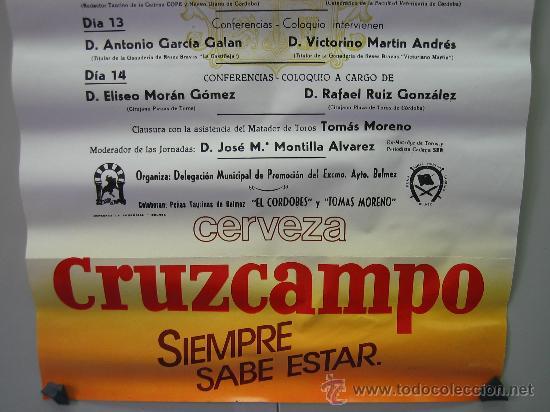 Carteles Toros: Nº 42 Cartel Plaza de toros de Belmez . Medidas 32 x 70 cm - Foto 3 - 30849081