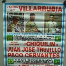 Carteles Toros: Nº 32 CARTEL PLAZA DE TOROS DE VILLARRUBIA . MEDIDAS 50 X 70 CM . Lote 30848882