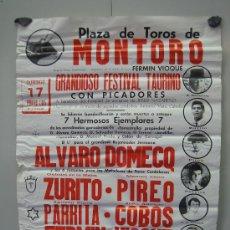 Carteles Toros: Nº 36 CARTEL PLAZA DE TOROS DE MONTORO . MEDIDAS 50 X 70 CM . Lote 30848970