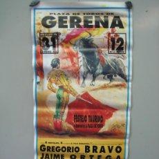 Carteles Toros: Nº 54 CARTEL PLAZA DE TOROS DE GERENA . MEDIDAS 32 X 70 CM . Lote 30849290