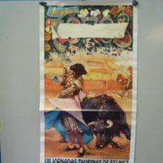 Carteles Toros: Nº 61 CARTEL PLAZA DE TOROS DE BELMEZ . MEDIDAS 44 X 98 CM . Lote 30849410