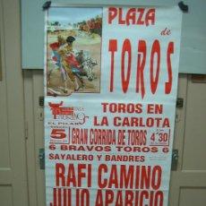 Carteles Toros: Nº 82 CARTEL PLAZA DE TOROS DE LA CARLOTA . MEDIDAS 70 X 148 CM . Lote 30849862