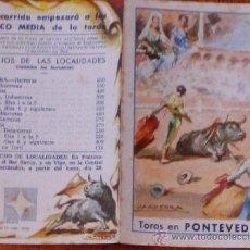 Carteles Toros: RRR CARTELILLO 18X13 PLAZA DE TOROS PONTEVEDRA 1967 MANUEL BENITEZ EL CORDOBES. Lote 30943179