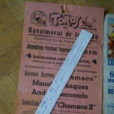 Affissi Tauromachia: CARTEL DE TROS DE LOS NAVALMORAL DE LA MATA 1968. Lote 30965901