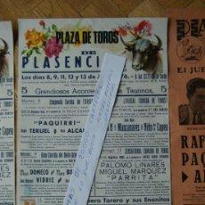 Carteles Toros: PLAZA DE TOROS DE PLASENCIA 1976. Lote 30966623