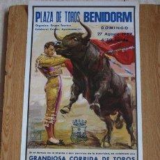 Carteles Toros: CARTEL DE TOROS DE BENIDORM. 27 DE AGOSTO DE 1989. . Lote 31066792