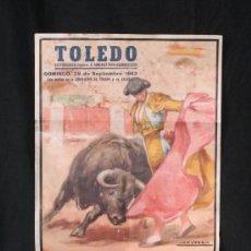 Carteles Toros: CARTEL DE TOROS TOLEDO AÑO 1963. MEDIDAS 45 X 23 CM. Lote 31069519
