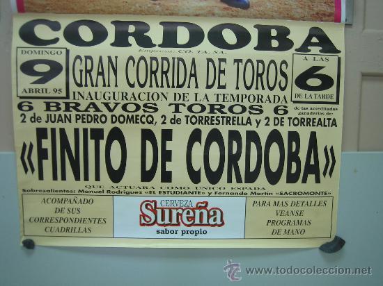 Carteles Toros: Nº98 Cartel Plaza de toros de Cordoba 68 x 140 cm - Foto 3 - 31217241