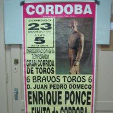 Carteles Toros: Nº100 CARTEL PLAZA DE TOROS DE CORDOBA 68 X 142 CM. Lote 31217265