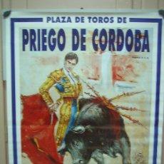 Carteles Toros: Nº109 CARTEL PLAZA DE TOROS DE PRIEGO DE CORDOBA 90 X 190 CM. Lote 31217485