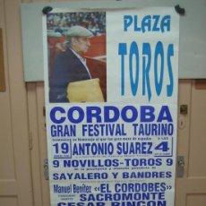Carteles Toros: Nº138 CARTEL PLAZA DE TOROS DE CORDOBA 70 X 148 CM. Lote 268580849
