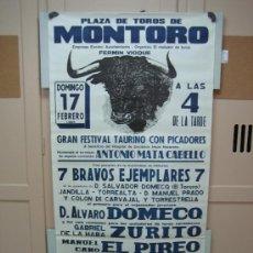 Carteles Toros: Nº163 CARTEL PLAZA DE TOROS DE MONTORO 70 X 148 CM. Lote 31218768
