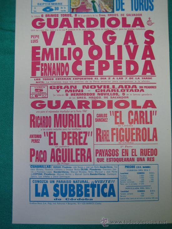 Carteles Toros: PNº18 Cartel Plaza de toros de Priego 13x29 cm - Foto 3 - 31265336