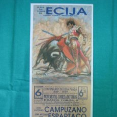 Cartazes Touros: PNº14 CARTEL PLAZA DE TOROS DE ECIJA 11X31 CM. Lote 31265259