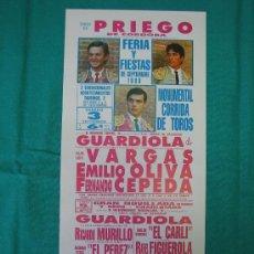 Carteles Toros: PNº1 CARTEL PLAZA DE TOROS DE FUENGIROLA 14X30 CM. Lote 31265326