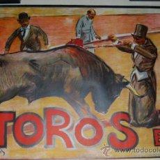 Carteles Toros: CARTEL TOROS AÑOS 20 ILUSTRADO POR RUANO LLOPIS . Lote 31304081