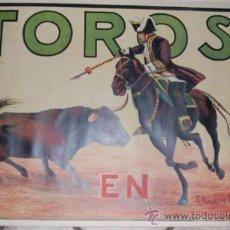 Carteles Toros: CARTEL TOROS AÑOS 20 ILUSTRADO POR RUANO LLOPIS . Lote 31304093