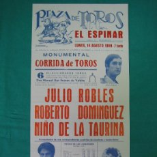 Carteles Toros: CNº9 PLAZA DE TOROS DE EL ESPINAR 21X40 CM. AÑO 1989 . Lote 31335566