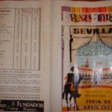 Carteles Toros: PLAZA DE TOROS DE SEVILLA ,..DOMINGO DE RESURRECCION Y FERIA DE ABRIL 1972. Lote 31381406