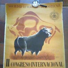 Carteles Toros: SOCIEDAD VETERINARIA DE ZOO TECNIA. II CONGRESO INTERNACIONAL VETERINARIO DE ZOOTECNIA. 1951. MADRID. Lote 31408329