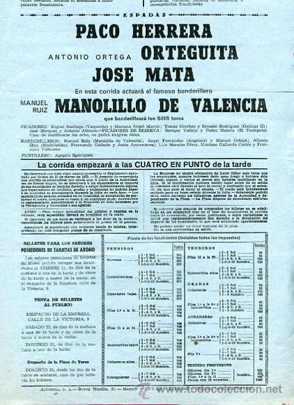 Carteles Toros: CARTEL TOROS, PLAZA DE MADRID 1966 , ORIGINAL , K22 - Foto 2 - 31457595