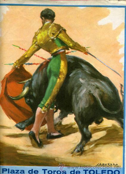 Carteles Toros: CARTEL TOROS, PLAZA DE TOLEDO 1965 , ORIGINAL , K26 - Foto 2 - 31457636