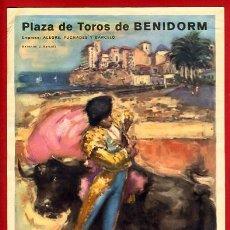 Cartazes Touros: CARTEL TOROS, PLAZA DE BENIDORM 1962 , ALICANTE , ORIGINAL , K19. Lote 31457549