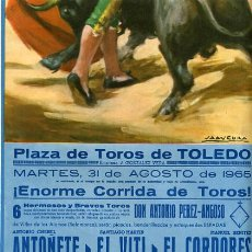 Carteles Toros: CARTEL TOROS, PLAZA DE TOLEDO 1965 , ORIGINAL , K26. Lote 31457636