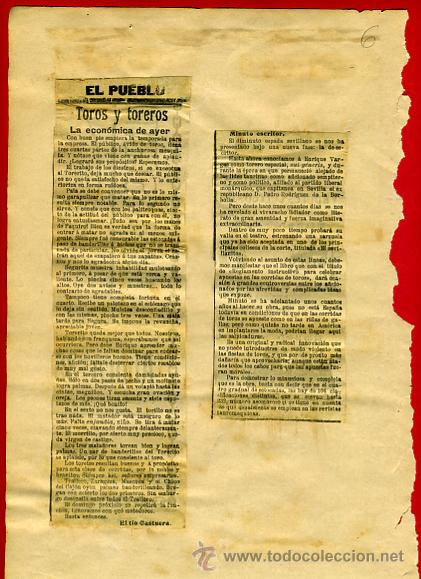 Carteles Toros: CARTEL TOROS, PLAZA VALENCIA 1909 , ORIGINAL , K6 - Foto 3 - 31457256