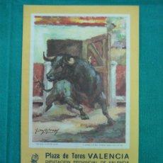 Carteles Toros: B- CARTEL PLAZA DE TOROS DE VALENCIA. MEDIDAS 21X24 CM 1987. Lote 31685105