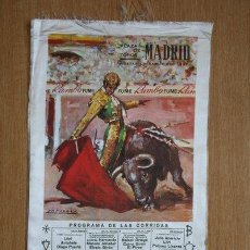 Carteles Toros: CARTEL DE TOROS DE MADRID. FERIA DE SAN ISIDRO 1967. DÍAS 13 AL 28 DE MAYO. . Lote 31880182
