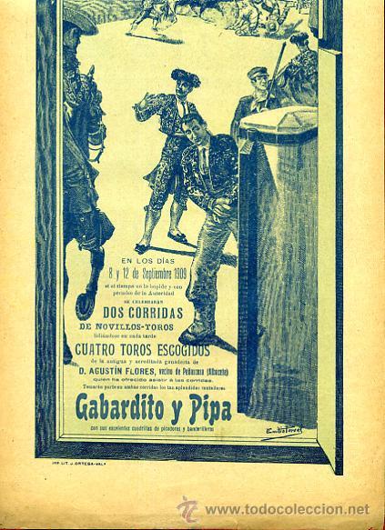 Carteles Toros: CARTEL TOROS, IBI ALICANTE 1909 , ORIGINAL, VER FOTOS ADICIONALES, Y104 - Foto 2 - 32045482