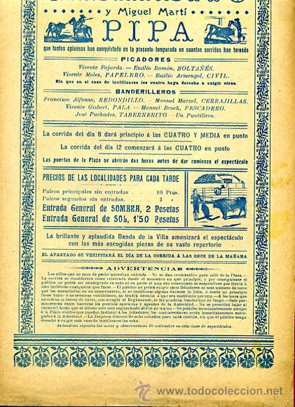 Carteles Toros: CARTEL TOROS, IBI ALICANTE 1909 , ORIGINAL, VER FOTOS ADICIONALES, Y104 - Foto 4 - 32045482