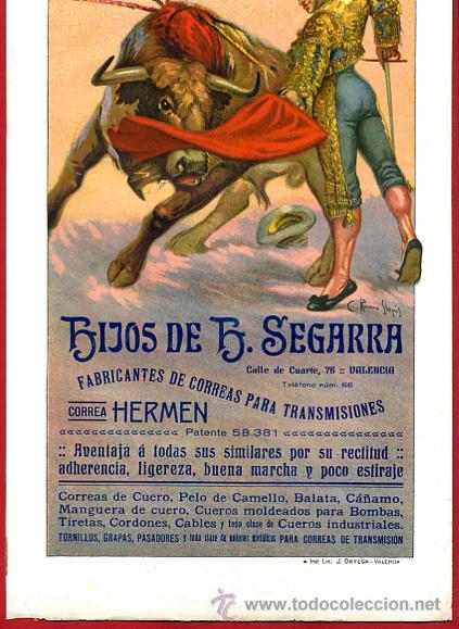 Carteles Toros: CARTEL TOROS, VALENCIA 1915 , ORIGINAL, VER FOTOS ADICIONALES, Y120 - Foto 2 - 32045942